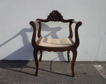 Antique Chair Vintage Dante Savonarola X Base Armchair Rustic Tole Seating Country French Provincial Eclectic Seating Hollywood Regency