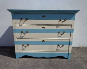 Dresser Antique Chest of Drawers Nightstand Bedside Table French Provincial Vintage Shabby Chic Regency Cottage Storage Bedroom Entry Way