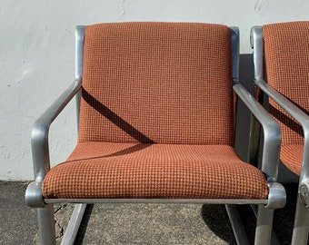 Knoll Chair Hannah Morrison Armchairs Aluminum Lounge Chairs Mid Century Modern Hollywood Regency MCM Retro Vintage Chair Seating Boho Chic