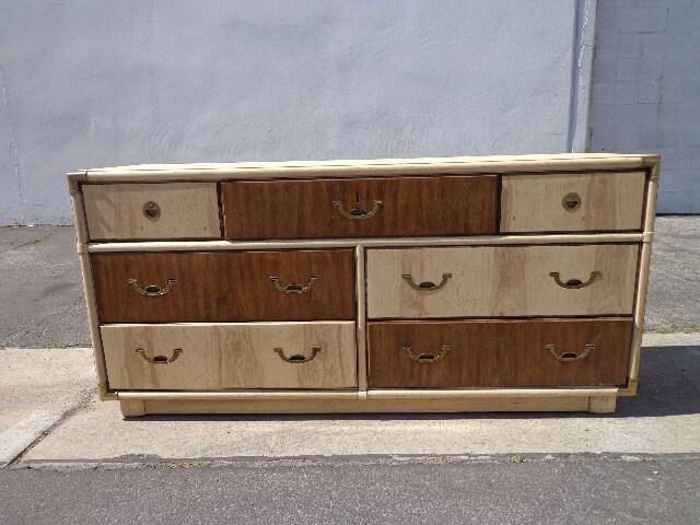 Drexel Accolade Campaign Dresser Chest Drawers Bureau Buffet