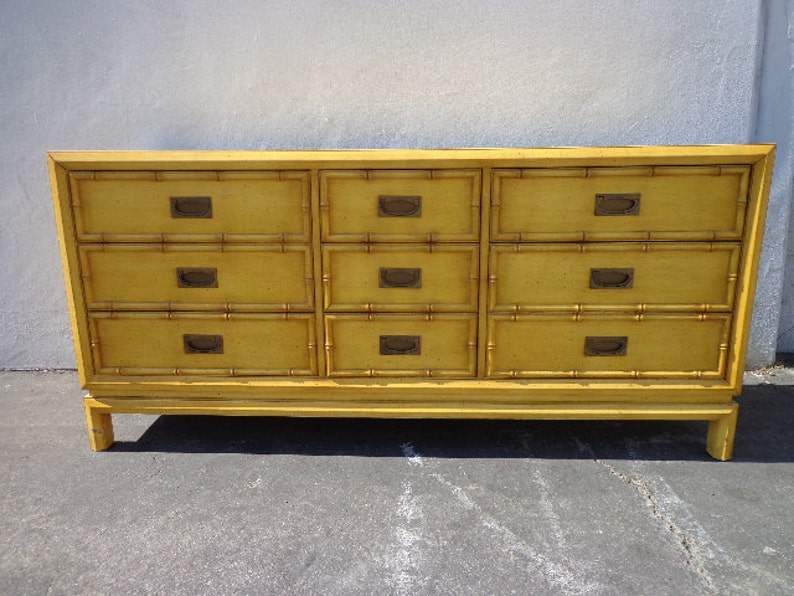 Exceptionnel Dresser Faux Bamboo Bedroom Media Console Chest Drawers Storage Regency  Chinoiserie Boho Chic Campaign Mid Century Table CUSTOM PAINT AVAIL