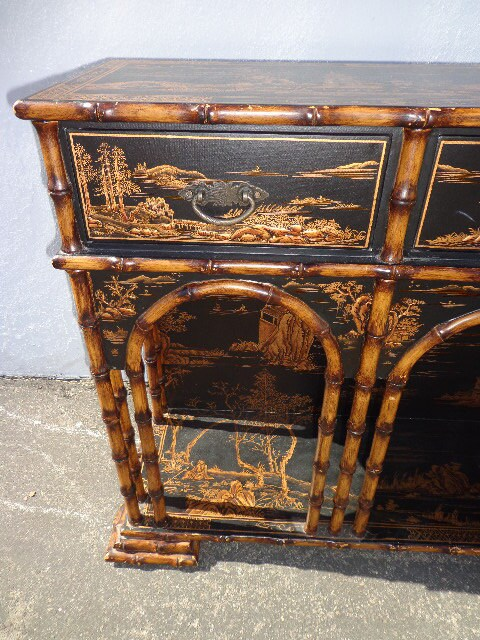 Console Table Vintage Sarried Furniture Asian Inspired