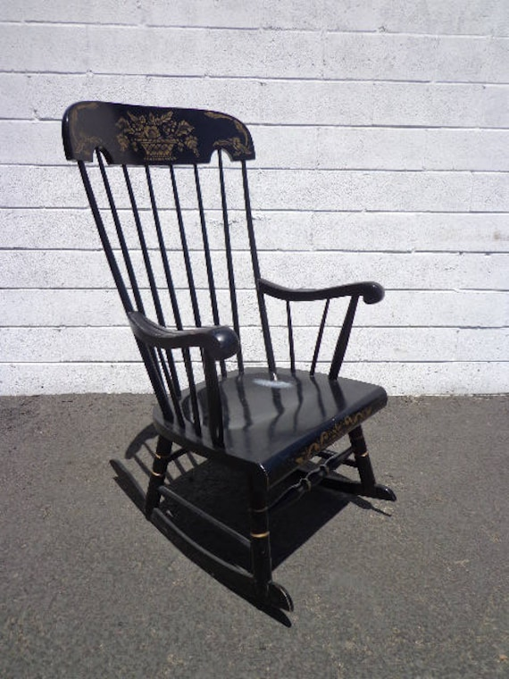 image 0 ... - Antique Rocking Chair Rocker Armchair Spindle Traditional Etsy