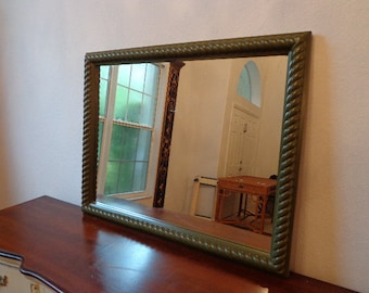 Mirror Wall Vintage Green Traditional Vanity Shabby Chic French Provincial Bedroom Bathroom Country Classic Decor Dressing Mirror