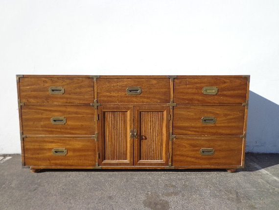 Strange Campaign Chest Media Console Dresser Vintage Boho Chic Bohemian Mcm Buffet Chinoiserie Chest Of Drawers Asian Brass Gold Custom Paint Avail Evergreenethics Interior Chair Design Evergreenethicsorg