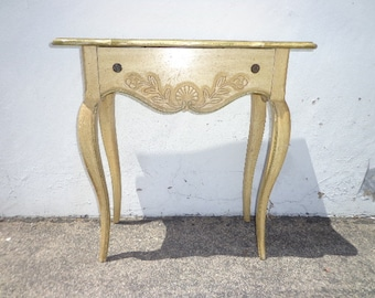 Antique Vanity Table Wood Desk Vintage Regency Country French Provincial Writing Set Vanity Shabby Chic Stand Neoclassic CUSTOM PAINT AVAIL