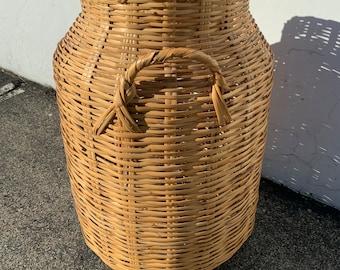 Fabulous Vase Boho Chic Bohemian Woven Wicker Flower Floor Vintage Decor Jug Jar Urn Basket Decoration Tall Container Weave Rattan Planter