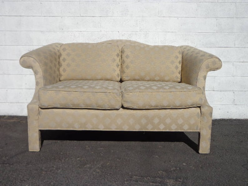 Sofa Loveseat Camelback Couch Parsons Asian Chinoiserie Settee Etsy