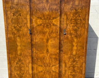 Antique Armoire Wardrobe Closet Chest of Drawers Tall Dresser Wood Hanging Rod Bedroom Storage Farmhouse Shabby Chic CUSTOM PAINT AVAIL