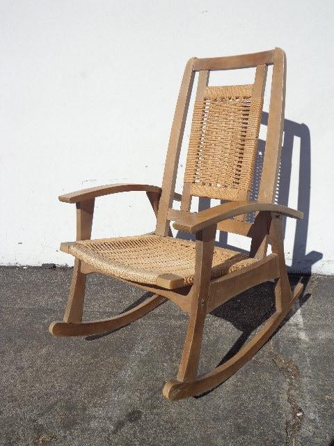 Rocking Chair Mid Century Modern Hans Wegner Rocker