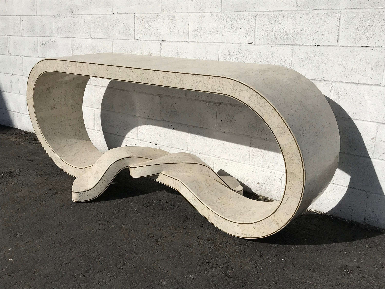 Phenomenal Maitland Smith Tessellated Stone Table Desk Console Ribbon Spiritservingveterans Wood Chair Design Ideas Spiritservingveteransorg