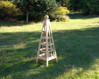 Incroyable 5u0027 Trellis Obelisk | Available In RED CEDAR Or PINE | Stainless Steel  Fasteners | Flat Pack Ship | Illustrated Assembly Instructions