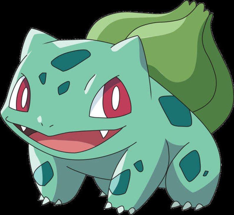 GEEKERY Pokemon Bulbasaur Inspired Green Satin Ribbon Choker Silver Geekery Leaf Grass Type First Gen Enamel Charm
