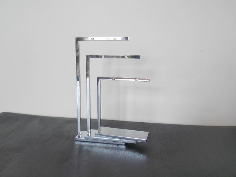 SUPPLY Lot of Three 3 Metal Matching Earring Tree Display Set Simple Modern Elegant Three Different Sizes Silver Lightweight Pretty Elegant