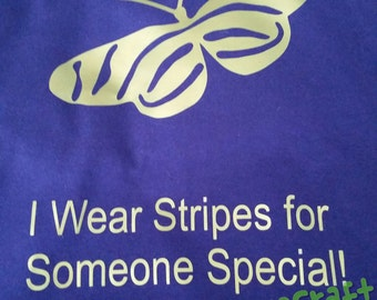 """I wear Stripes for Someone Special """"Zebra Butterfly""""  T-Shirt"""