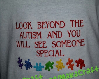 Autism Awareness Embroidered TShirt
