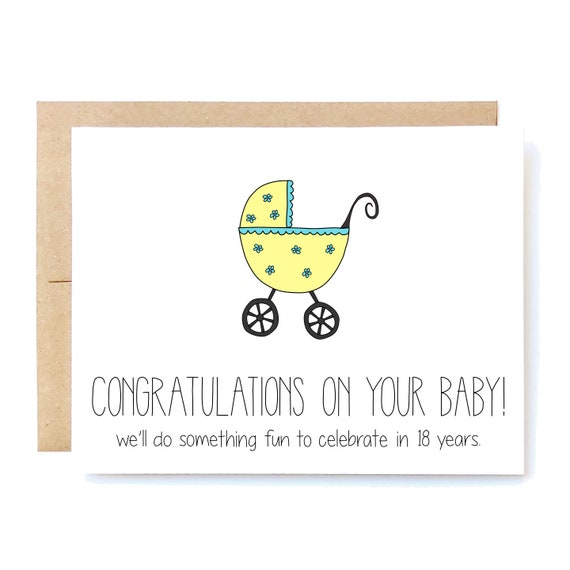 Let/'s Celebrate in Few Months! Expecting Baby Card by Fresh! Funny Pregnancy Card