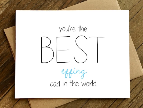 Funny Fathers Day Card Card For Dad Dad Birthday Card Etsy