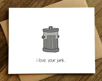 Funny Love Card - Suggestive Card - Card for Boyfriend - Card for Husband - Junk.