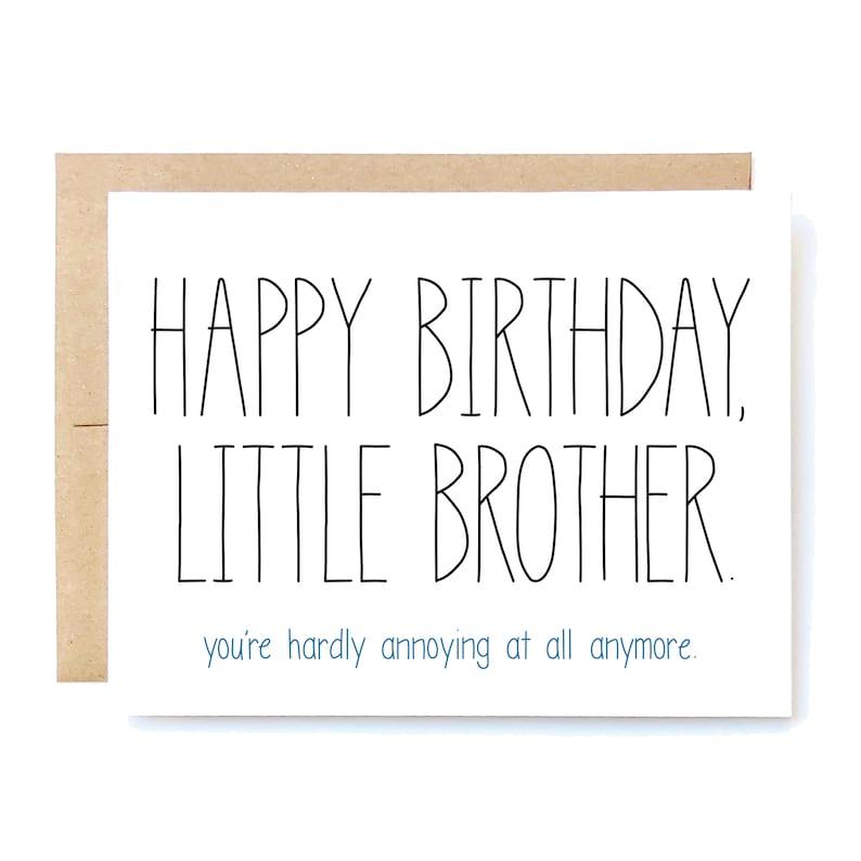 Geburtstagskarte kleiner bruder
