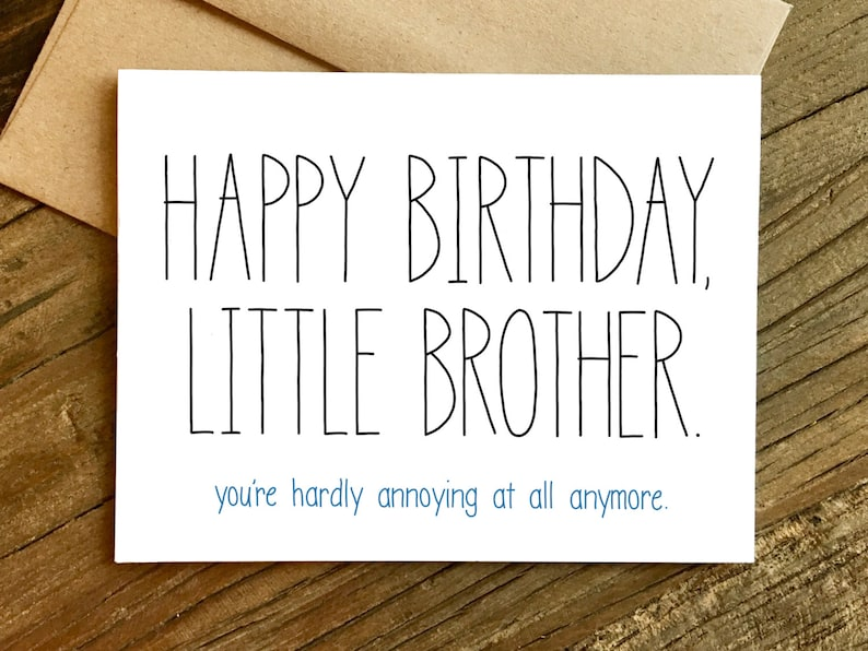 Funny Birthday Card For Brother
