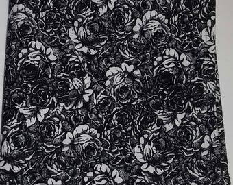 men's pocket square, handkerchief, floral pocket squares, black and white floral,  pocket square, wedding pocket squares