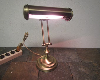 vintage antique brass adjustable piano lamp desk lamp piano light or desk light abp3 - Antique Desk Lamp
