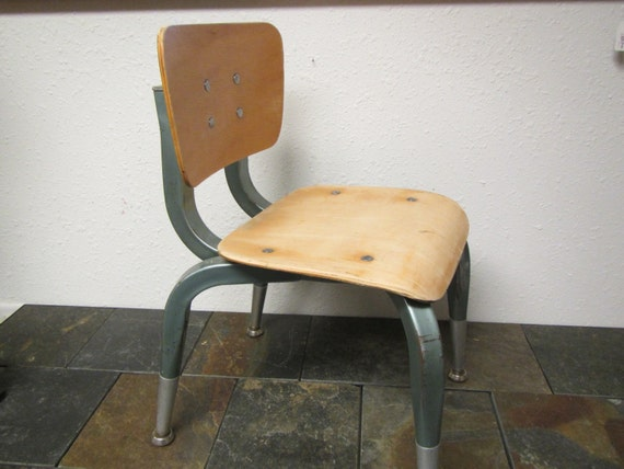 Terrific Vintage Kindergarten Chair American Desk Chair Quadraline Chair Childs Chair Wood Metal Chair 50S Or 60S Inzonedesignstudio Interior Chair Design Inzonedesignstudiocom