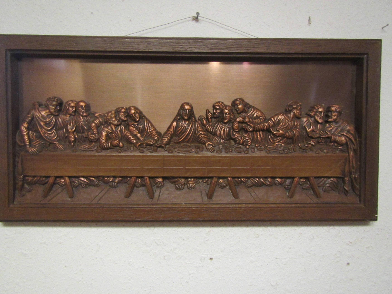 Kupfer Handwerk Gilde das Abendmahl 3 dimensionales Bild | Etsy