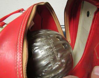 Brunswick Crown Jewel Bowling Ball & AMF Carrying Case * 15 pound ball