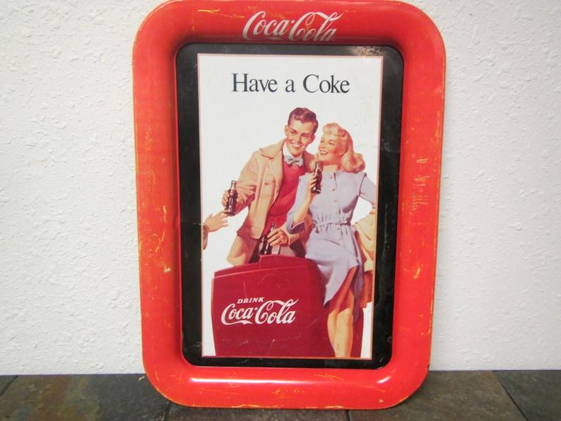 Vintage COCA-COLA Serving Tray * Drink Coca-cola tray * Have a Coke tray,  advertising tray