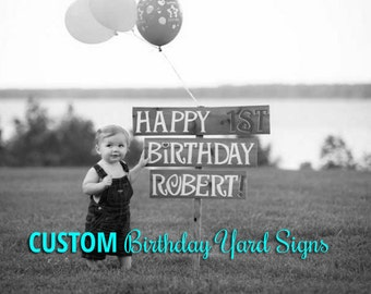 Birthday Yard Sign, Happy Birthday Yard Sign, Birthday Party Decorations, 1st, 30th, 40th, 50th, 60th, Anniversary, Party