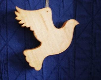 Peace Dove - wooden ornament