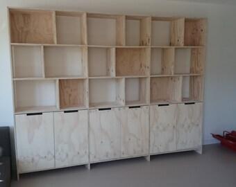 Kast Hout Staal : Boekenkast staal hout unique heerlijk industriele locker