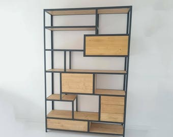 Cabinet of steel and wood