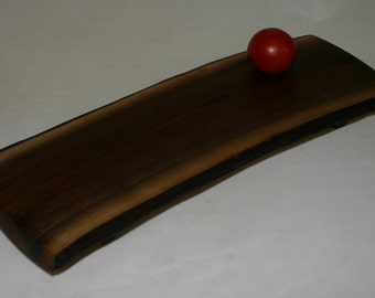 """Live edge Walnut cutting board with a live edge - Serving Tray with walnut feet, """"footed""""  187 - bread board, cheese board, serving tray"""