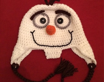 Crochet olaf etsy pattern only frozen olaf hat crochet pattern fandeluxe Images
