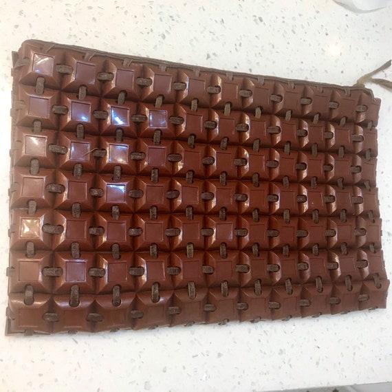 Plasticflex plastic tile clutch purse bag 1940s 4… - image 4