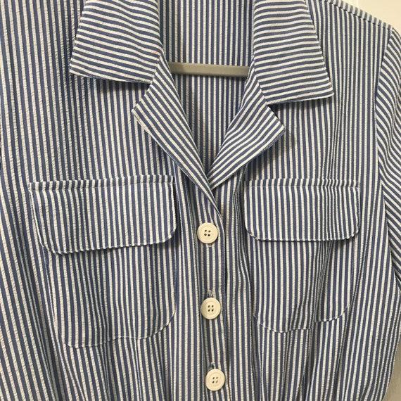 Seersucker jumpsuit 80s does 40s - 1940s 1950s WW… - image 3