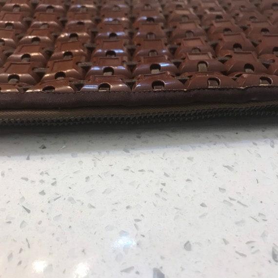 Plasticflex plastic tile clutch purse bag 1940s 4… - image 7