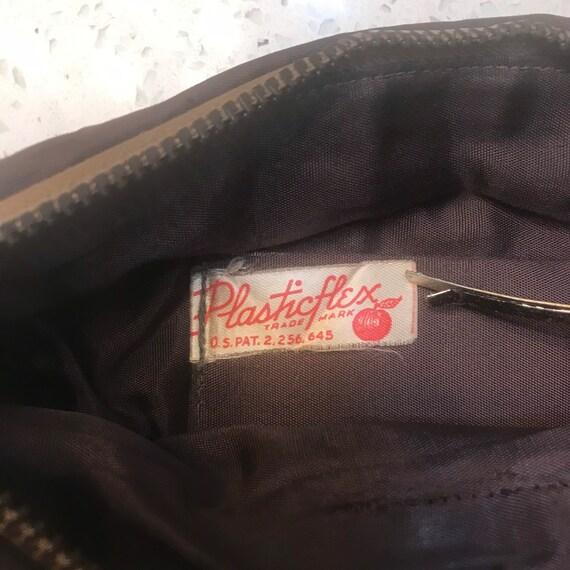 Plasticflex plastic tile clutch purse bag 1940s 4… - image 3