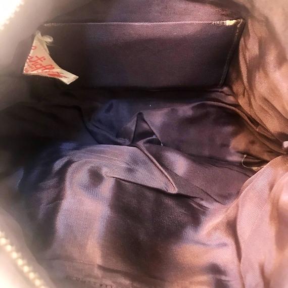 Plasticflex plastic tile clutch purse bag 1940s 4… - image 5