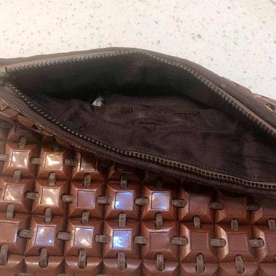 Plasticflex plastic tile clutch purse bag 1940s 4… - image 10
