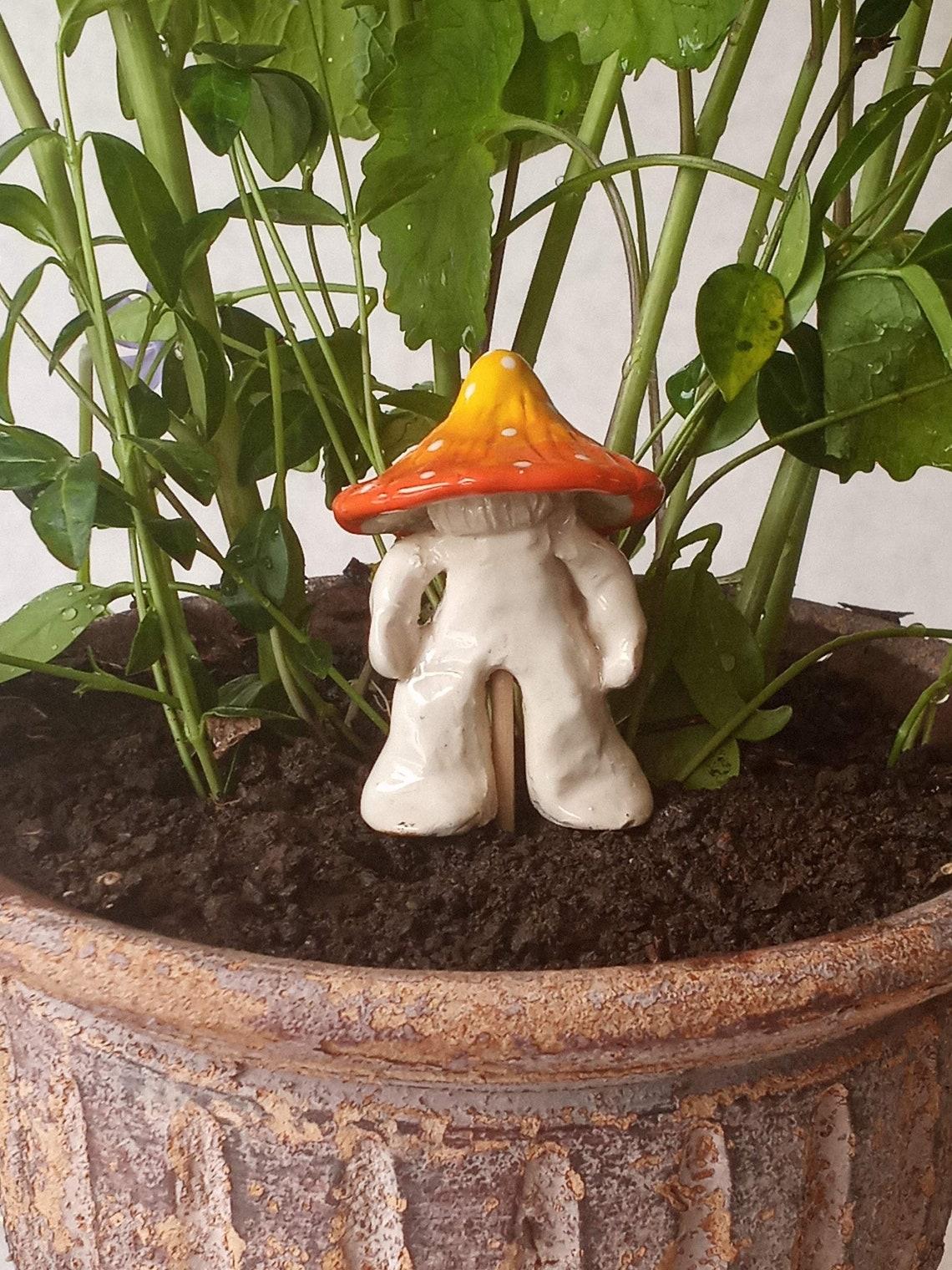 Garten Pilz Mann Keramik Keramik.   Etsy