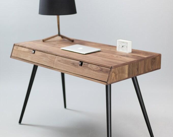 Solid Walnut wood desk , dressing table , office desk, Classic, Mid Century, Modern.