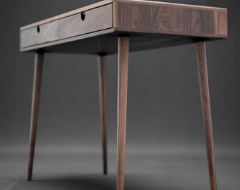 Solid Walnut Board Desk , Bureau , Dressing Table , Office Desk, Classic, Mid  Century, Modern.