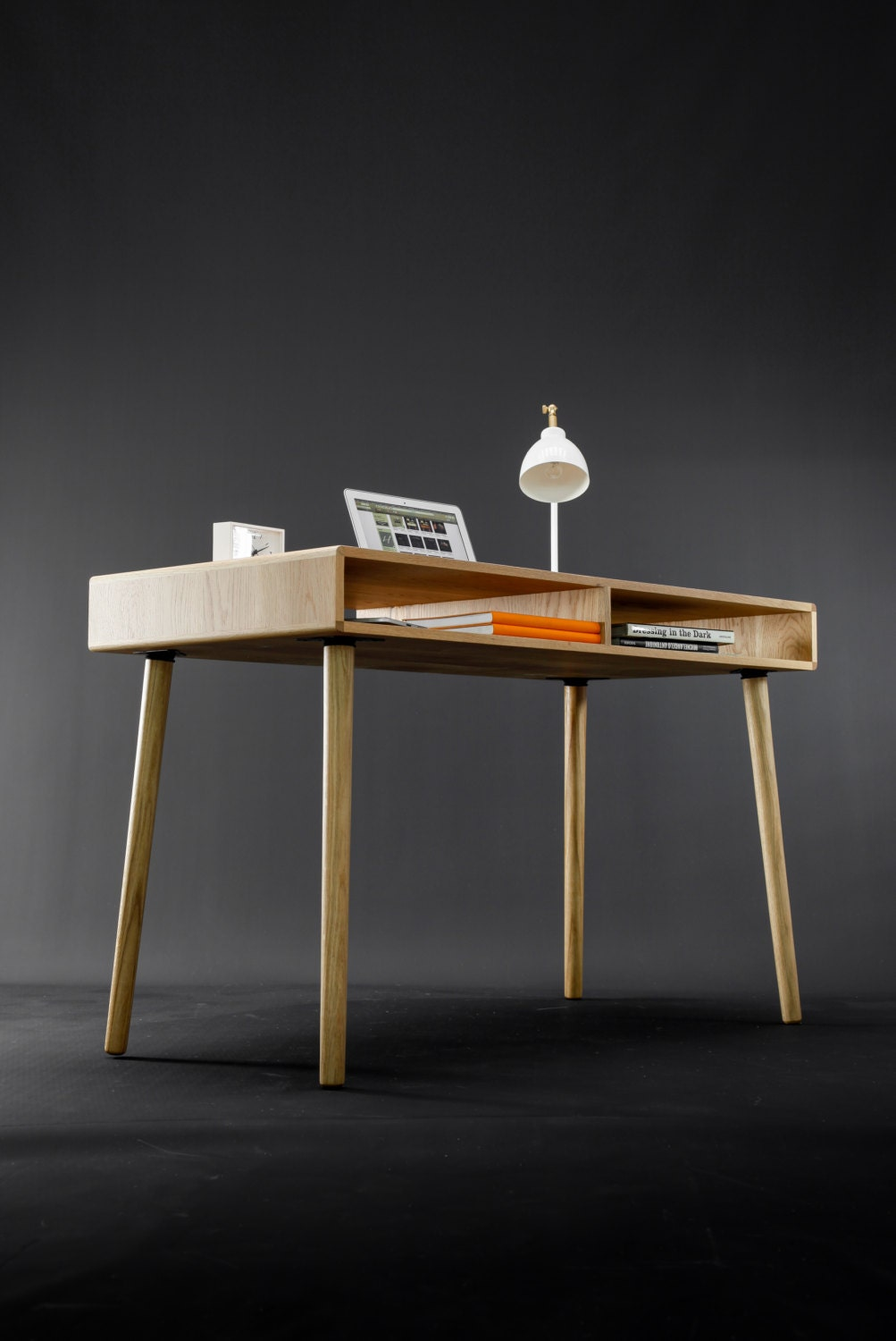Awe Inspiring Modern Oak Desk With Open Cubbies Mid Century Design Gmtry Best Dining Table And Chair Ideas Images Gmtryco