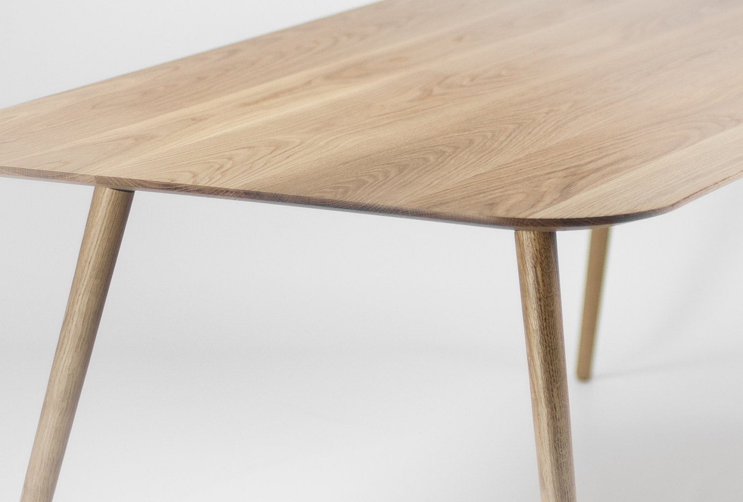 Dining Table In Solid Oak Modern Mid Century Scandinavian - Mid century oak dining table