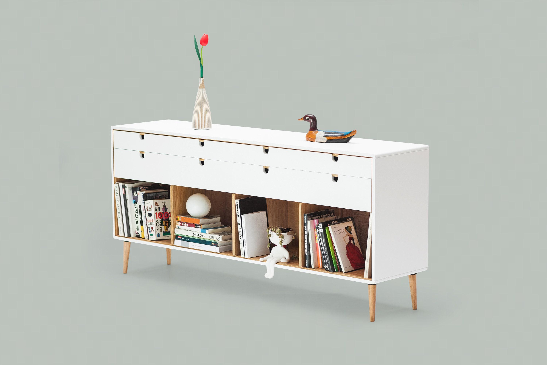La Credenza Di Picasso : Commode dresser credenza in solid oak wood board style modern mid