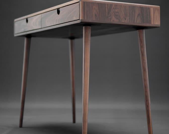 Solid Walnut board desk , Bureau , dressing table , office desk, Classic, Mid Century, Modern.